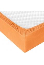 Оранжевая махровая простыня