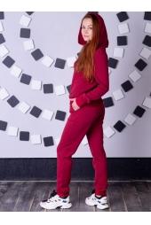 Спортивный костюм, бордовый (арт.14БО/КЖ)