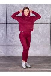 Костюм замшевый, бордовый (арт. 11БО/КЖ)