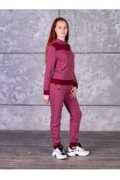Спортивный костюм, бордовый (арт. 13БО/ЖК)