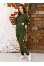 Спортивный костюм, зеленый (арт. 17ЗЕ/КЖ)