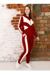 Спортивный костюм, бордовый (арт. 15БО/КЖМ)