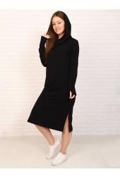 Платье с капюшоном, черное (арт. 19ЧЕ/ПЛ)