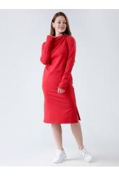 Платье с капюшоном, красное (арт. 19КР/ПЛ)