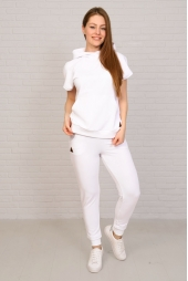 Спортивный костюм, белый (арт. 19БЕ/КЖКР)