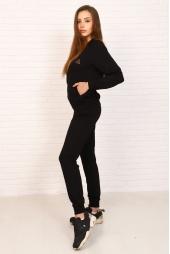 Спортивный костюм, черный (арт. 19ЧЕ/КЖБ)