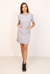 Платье-футболка, серый меланж (арт. 15МЕ/ПФ)
